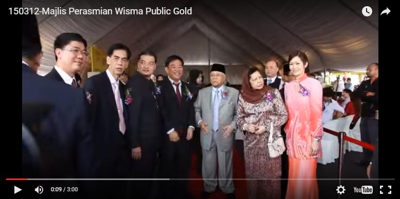 Perasmian Public Gold