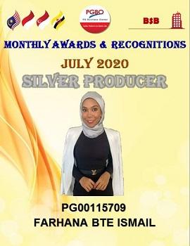 S FARHANA SILVER JULY