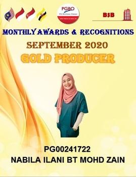 NABILA ILANI BT MOHD ZAIN GOLD SEPT 2020