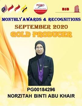 NORZITAH BINTI ABU KHAIR GOLD SEPT 2020